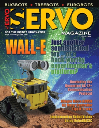 SERVO Magazine April 2009 issue with ioBridge