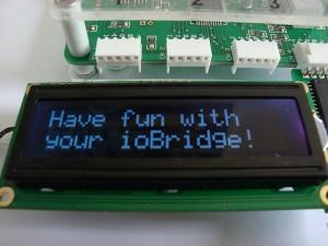 ioBridge Controlling Spark Fun LCD