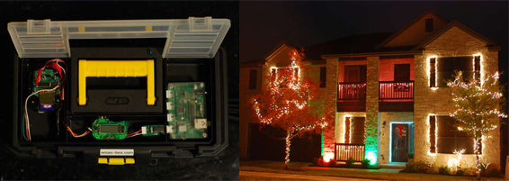 The Xmas Lights Controller Box in Action