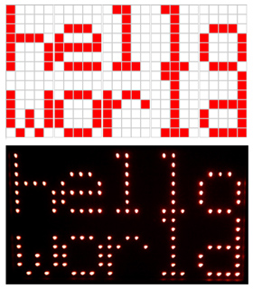 """Hello World"" on LED Wall"