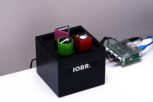 IOBR Social Toy next to ioBridge IO-204