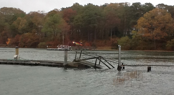Hurricane Sandy Tides Dock Under Water