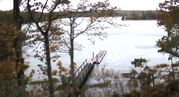 Hurricane Sandy Tide Levels Security Cam