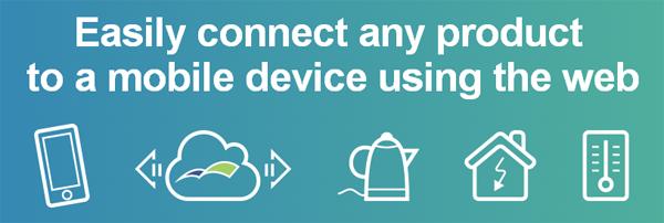 Easily connect any product  to a mobile device using the web